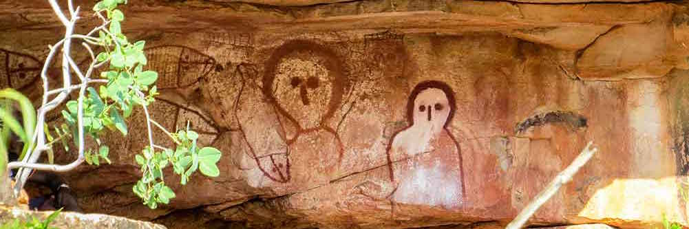 aboriginal art on a kimberley cruise